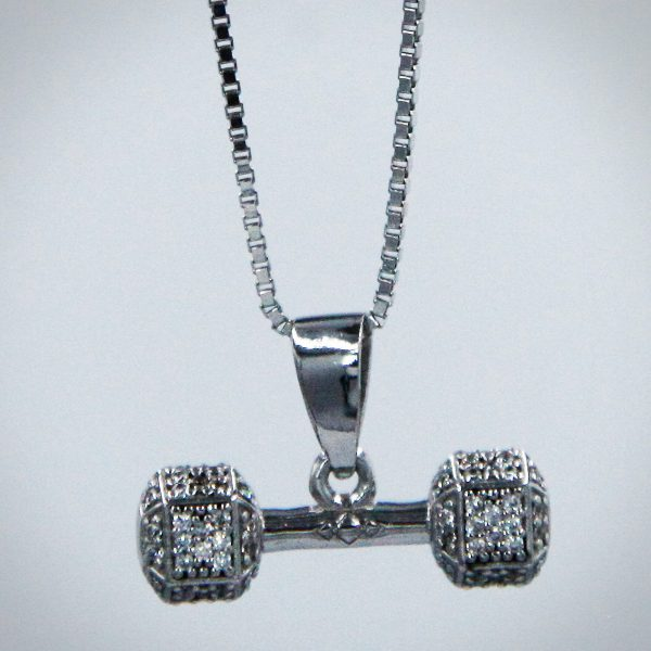 Dumbbell Silver 1 BIG